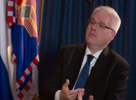 Presidential candidate Ivo Josipovic Photo: Screetshot HRT TV