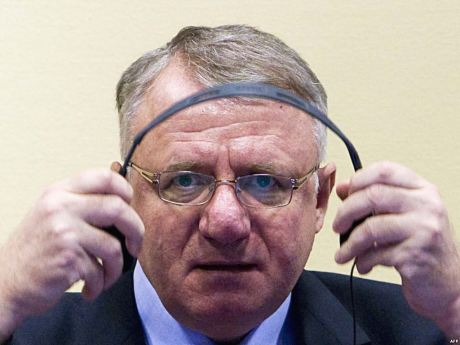 Indicted Serb war criminal Vojislav Seselj at The Hague