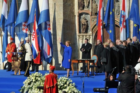 Zagreb, 15.02.2015 - Kolinda Grabar Kitarovic polozila je svecanu prisegu na mjesto predsjednice RH
