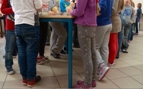 Croatian children school lunch