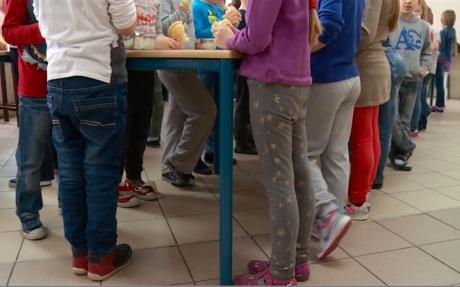 Croatian children school lunch