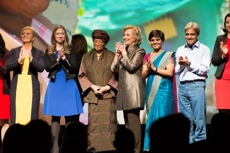 "Left: Croatian President Kolinda Grabar Kitarovic at Clinton Foundation New York March 9th, 2015  Women ""Not there yet - on issues of gender equality"" Photo: Lacy Kiernan, Vogue.com (Click photo to enlarge)"