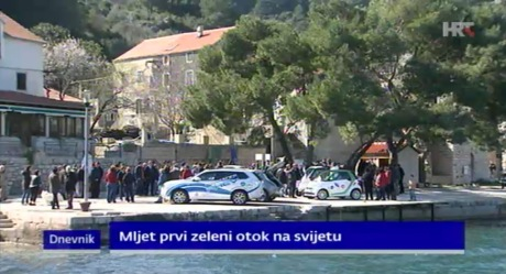 "Launching on Island of Mljet ""First Green Island in the World"" Project 8 March 2015 Photo: Screenshot HRT.hr news"