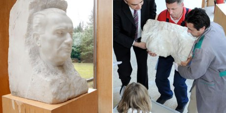 tito bust removed