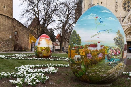 Big Easter eggs Zagreb Croatia