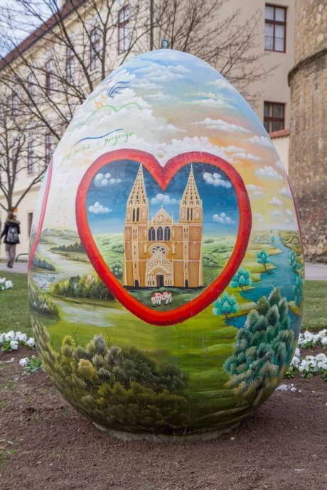 Croatia giant easter egg 2015 detail