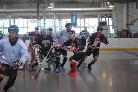 Croatian Ball Hockey Team In Action Canada - March 2015 Photo: www.croatianballhockey.com