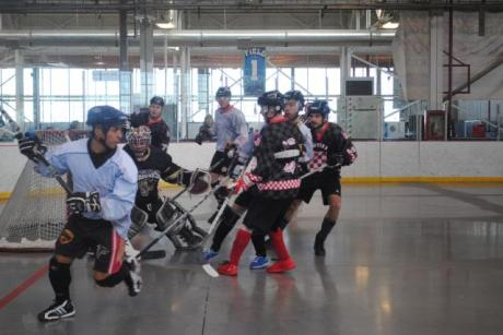 Croatian Ball Hockey Team v Canada Team March 2015 Photo: www.croatianballhockey.com