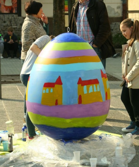 Kids know what they want for Easter egg decoration Sveta Nedjelja, Island of Hvar