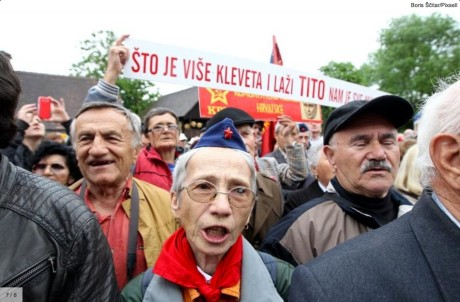 Delusional, unkempt, ageing Communism sympathizers from all over former Yugoslavia descended upon Tito's birthplace to pay birthday tribute to  communist crimes and their  top executor - Josip Broz Tito  Photo: Screenshot www.24sata.hr  Boris Scitar/Pixsell