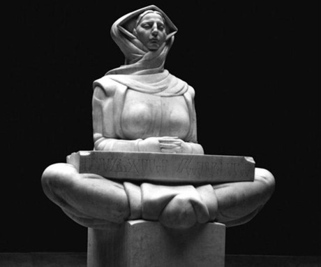 """""""History of Croatians"""" sculpture by Ivan Mestrovic in marble"""