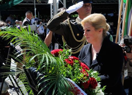 President Kolinda Grabar-Kitarovic at commemoration of WWII Antifascist battles 22 June 2015 Photo: Office of the President, Croatia
