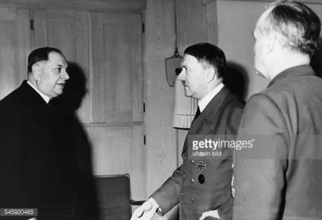 Serbia's World War II Prime Minister Milan Nedic with Adolf Hitler