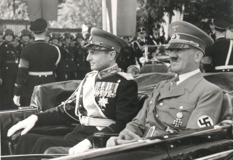 Serbia's Prince Pavle Karadjordjevic with Adolf Hitler