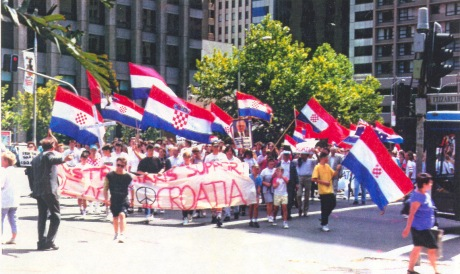 Croats of Sydney, Australia March for democracy in Croatia 1991 Photo: Ina Vukic