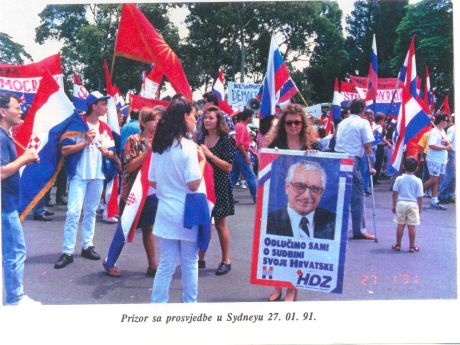 Sydney Croats in Australia Support Croatia's moves for independence and democracy 27 January 1991 Photo: Ina Vukic