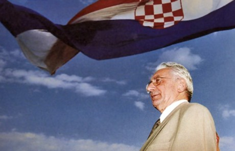 Croatia's First POresident Dr Franjo Tudjman Standing at Town Knin August 1995 - As Croatia  Was Liberated From Serb Aggressor