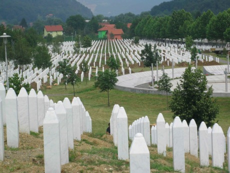 Srebrenica Bosnia and Herzegovina Graveyard of victims of genocide