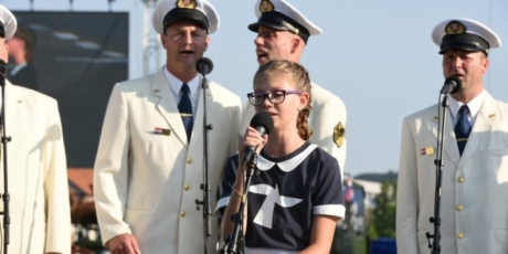 "12-year old Mia Negovetic  touched everybody's heart singing the Croatian national anthem ""Our Beautiful Homeland"" at the 20th Anniversary of Operation Storm military parade Photo: Josip Kopi/MORH/PIXSELL"