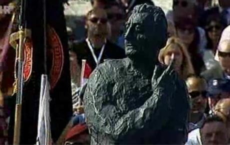 Monumental statue to Franjo Tudjman at Knin Croatia