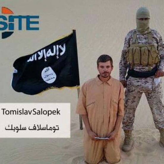 This image made from a militant video posted on a social media website on Wednesday, Aug. 5, 2015, Hostage: Tomislav Salopek A Croatian working in Egypt