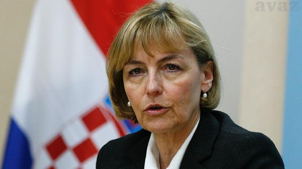 Croatian Foreign Minister Vesna Pusic