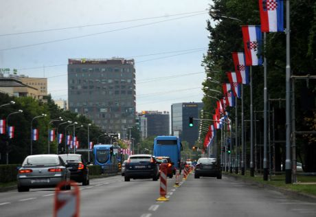 Croatia's Capital Zagreb  Prepares For The 20 Anniversary Of Operation Storm and Liberation From Serb Occupation Military Parade and Celebrations of Independence to be held 4th August 2015 Photo: FAH