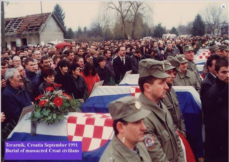 Tovarnik, Croatia, September 1991 Some civilians massacred by Serb forces were found and buried with dignity