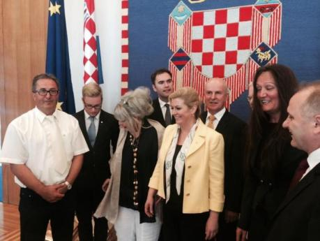 President Kolonda Grabar-Kitarovic Met With Croats From Abroad in Zagreb, July 2015 and other times