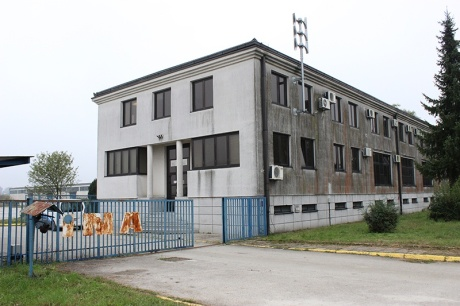 Building at Slavonski Brod Croatia to house refugees