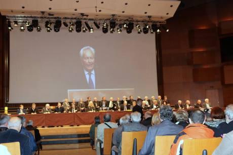 Zagreb, Croatia 31 October 2015 President of Croatian National Ethics Tribunal Dr Zvonimir Separovic Opens the proceedings against communist Yugoslavia's Josip Broz Tito Photo: Oskar Sarunic