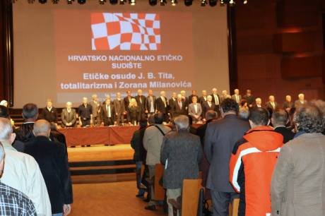 Vatroslav Lisinski Concert Hall Zagreb Croatia 31 October 2015 Judgment Day for crimes against Croatian people perpetrated by Josip Broz Tito and his followers Photo: Oskar Sarunic
