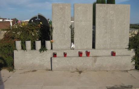Memorial to victims of massacres in Skabrnje Serb aggressors were most brutal 18 Nov 1991