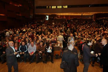 Thousands came to witness the hearing of testimonies of victims of communist crimes in Croatia Zagreb, Croatia - 31 October 2015 Croatian National Ethical Tribunal Photo: Oskar Sarunic