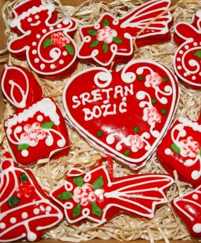 "Traditional Croatian Licitar Heart For a ""Merry Christmas"""