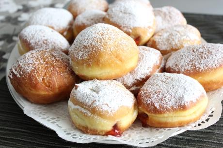 Croatian jam doughnuts KRAFNE
