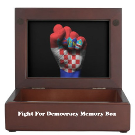 Croatian Flag Clenched Fist Adaptation of photo by zazzle.com (Screenshot)