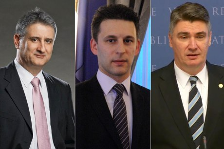 Left: Tomislav Karamarko, leader of HDZ Centre: Bozo Petrov, leader of Bridge group Right: Zoran Milanoivic, leader of SDP PHOTO: metkovic-news.com