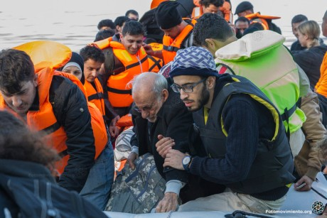 Refugees and illegal migrants crossing the Mediterranea to Greece Photo: Petros Giennakuris