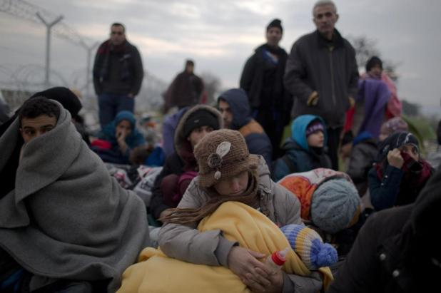 Refugees and illegal migrants enter Europe together Photo: AP Photo/Petros Giannakouris)
