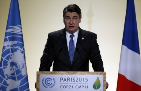 Croatian Prime Minister Zoran Milanovic at Paris UN summit on climate change Photo: HINA