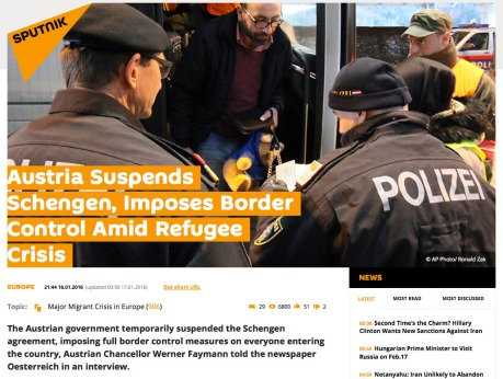 Austria Suspends Schengen 16 January 2016