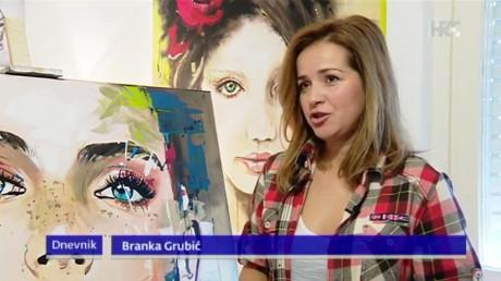 Branka Grubic Croatian TV news Screenshot: HRT TV 9 January 2016