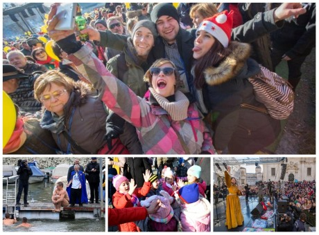 Collage of photos of New Year Parties In Croatia Top photo: Fuzine Photo: Nel Pavletic/Pixsell
