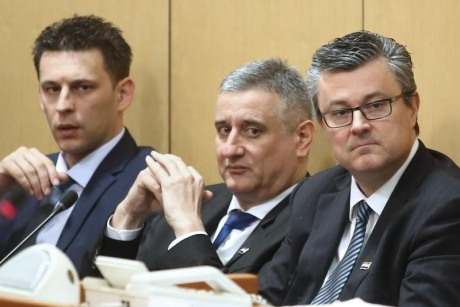 Heads of New Croatian Government From left: Bozo Petrov, Deputy PM, Tomislav Karamarko, First Deputy PM and Tihomir Oreskovic, Prime Minister Photo; Sanjin Strukic/Pixsell
