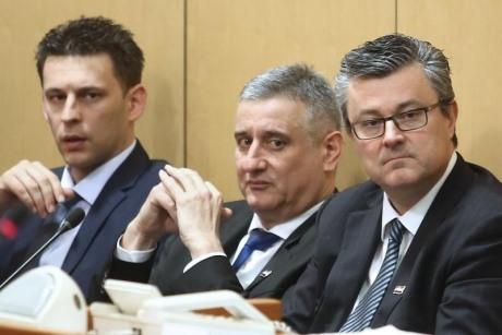 Heads of New Croatian Government From left: Bozo Petrov, Deputy PM, Tomislav Karamarko, First Deputy PM and Tihomir Oreskovic, Prime Minister Photo; Sanjin Strukic/Pixsell