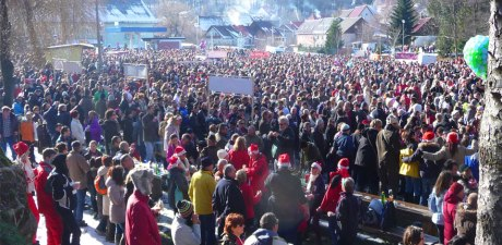 Noon on New Year's Eve at Fuzine Croatia ushering in 2016