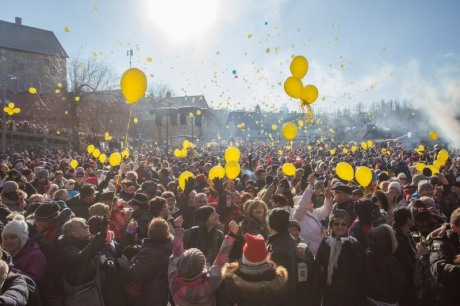 Unique New Year's Party Happens in Fuzine Croatia every year at Noon on 31 December