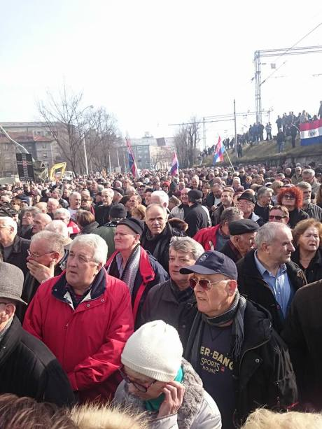Protest in Zagreb Croatia 26 January 2016 in support of Marko Juric & Z1 TV Calling for sacking of head of e-media Photo: Facebook