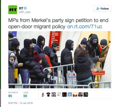 Screenshot RT news January 2016